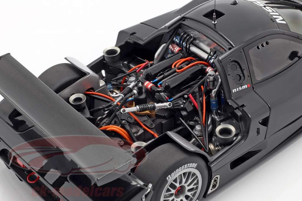Nissan R390 GT1 LeMans Opførselsår 1998 gloss sort 1:18 AUTOart