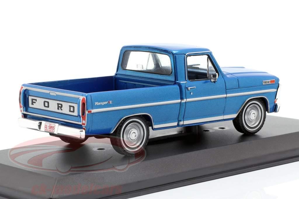 Ford F-100 Pick-Up camion anno di costruzione 1970 blu metallico 1:43 Greenlight