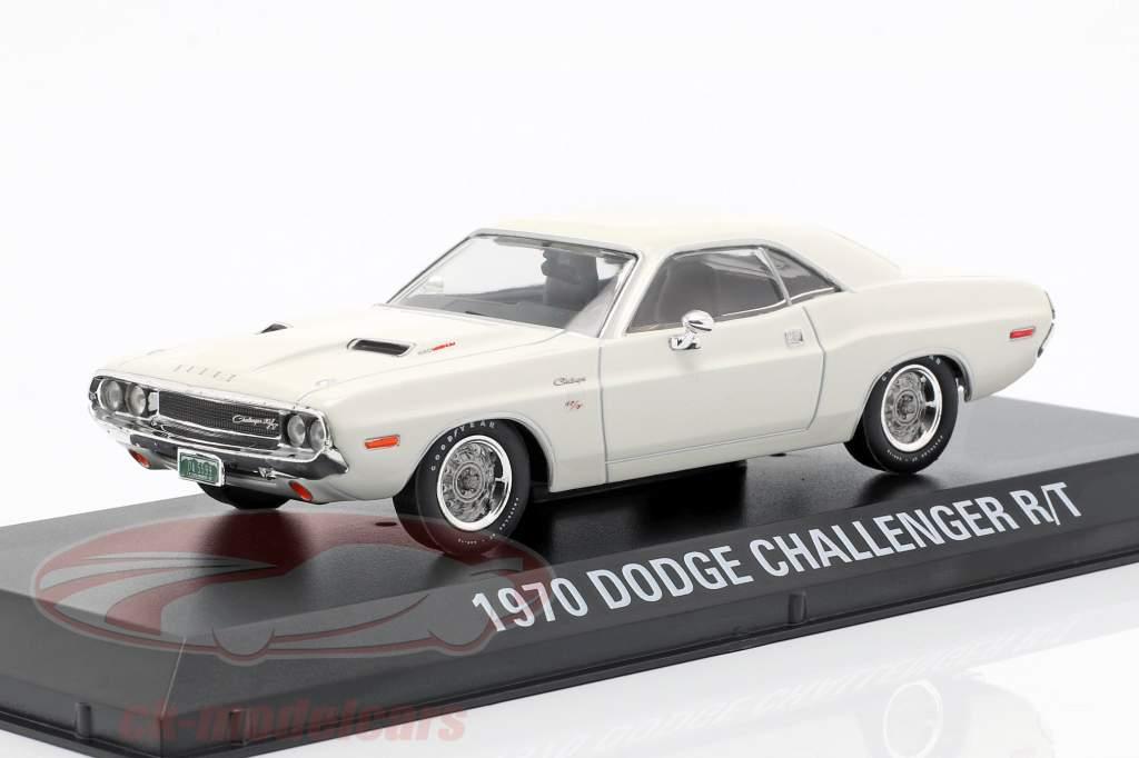 Dodge Challenger R/T año de construcción 1970 película Vanishing Point (1971) blanco 1:43 Greenlight