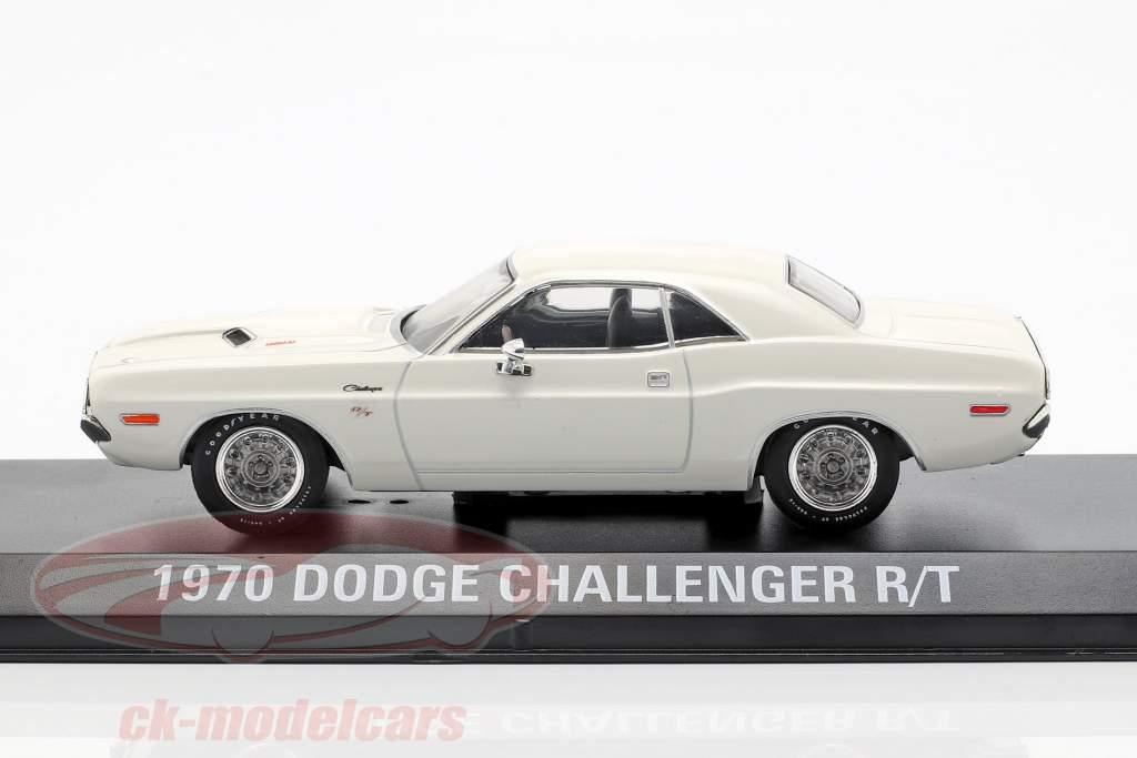 Dodge Challenger R/T year 1970 movie Vanishing Point (1971) White 1:43 Greenlight