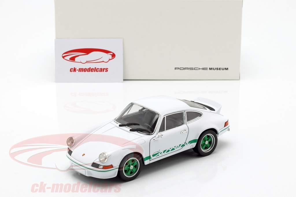 Porsche 911 Carrera RS anno di costruzione 1973 bianco / verde 1:24 Welly