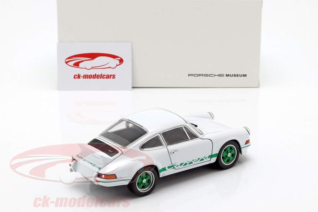 Porsche 911 Carrera RS Bouwjaar 1973 wit / groen 1:24 Welly