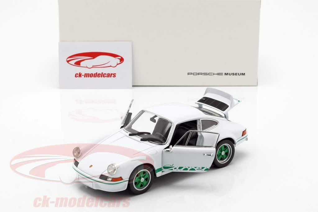 Porsche 911 Carrera RS year 1973 white / green 1:24 Welly