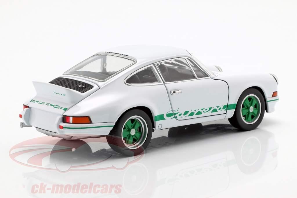 Porsche 911 Carrera RS Opførselsår 1973 hvid / grøn 1:24 Welly