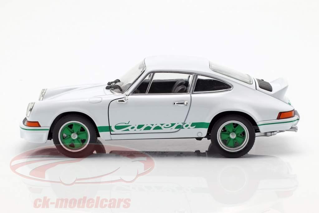 Porsche 911 Carrera RS année de construction 1973 blanc / vert 1:24 Welly