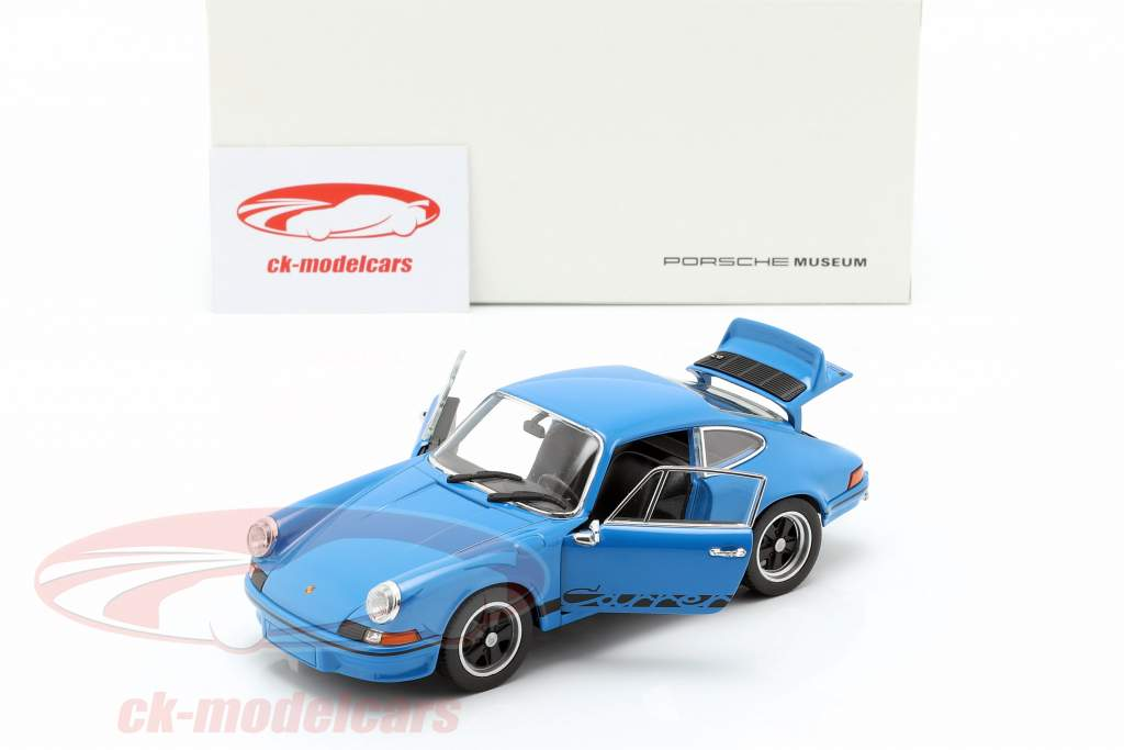 Porsche 911 Carrera RS Baujahr 1973 glasurblau 1:24 Welly