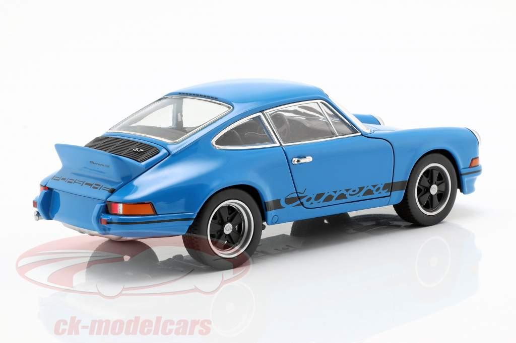 Porsche 911 Carrera RS année de construction 1973 glaçure bleu 1:24 Welly
