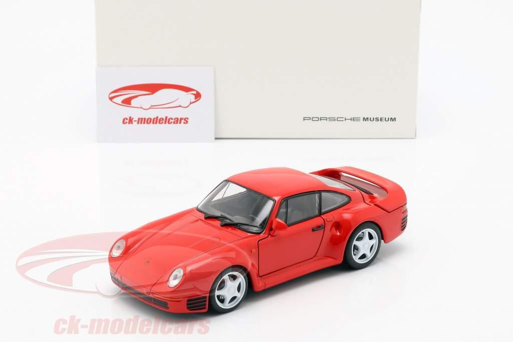 Porsche 959 Opførselsår 1986-88 vagter rød 1:24 Welly