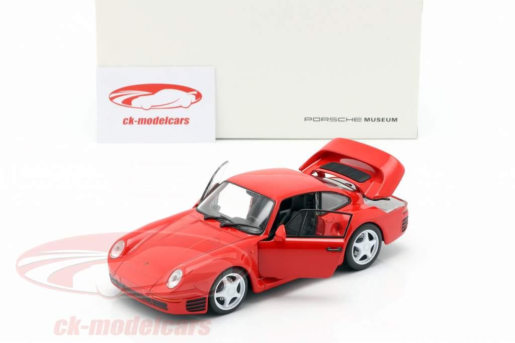 Porsche 959 Baujahr 1986-88 indischrot 1:24 Welly