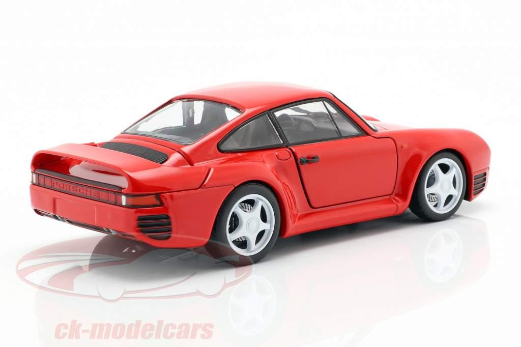 Porsche 959 año de construcción 1986-88 guardias rojo 1:24 Welly