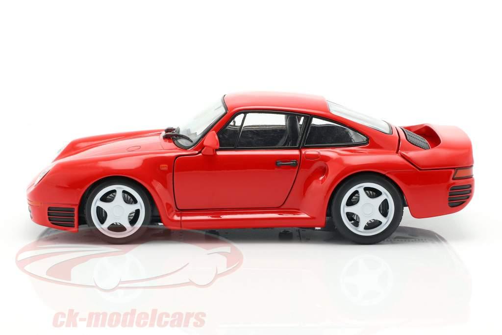 Porsche 959 Bouwjaar 1986-88 bewakers rood 1:24 Welly