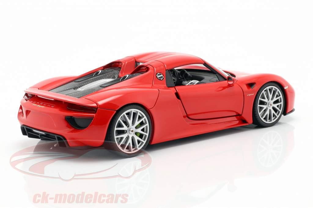 Porsche 918 Spyder año de construcción 2013-2015 guardias rojo 1:24 Welly