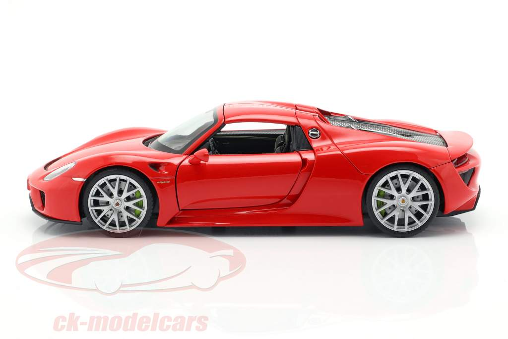 Porsche 918 Spyder Opførselsår 2013-2015 vagter rød 1:24 Welly