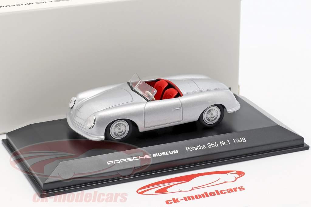 Porsche 356 No.1 year 1948 silver 1:43 Welly