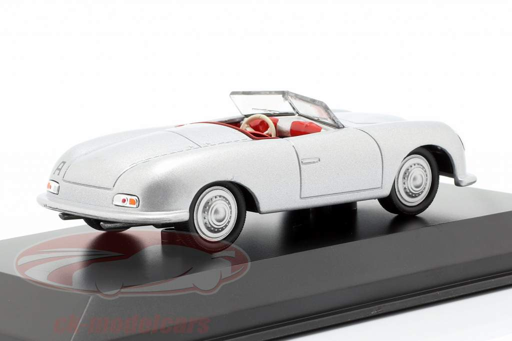 Porsche 356 No.1 Opførselsår 1948 sølv 1:43 Welly