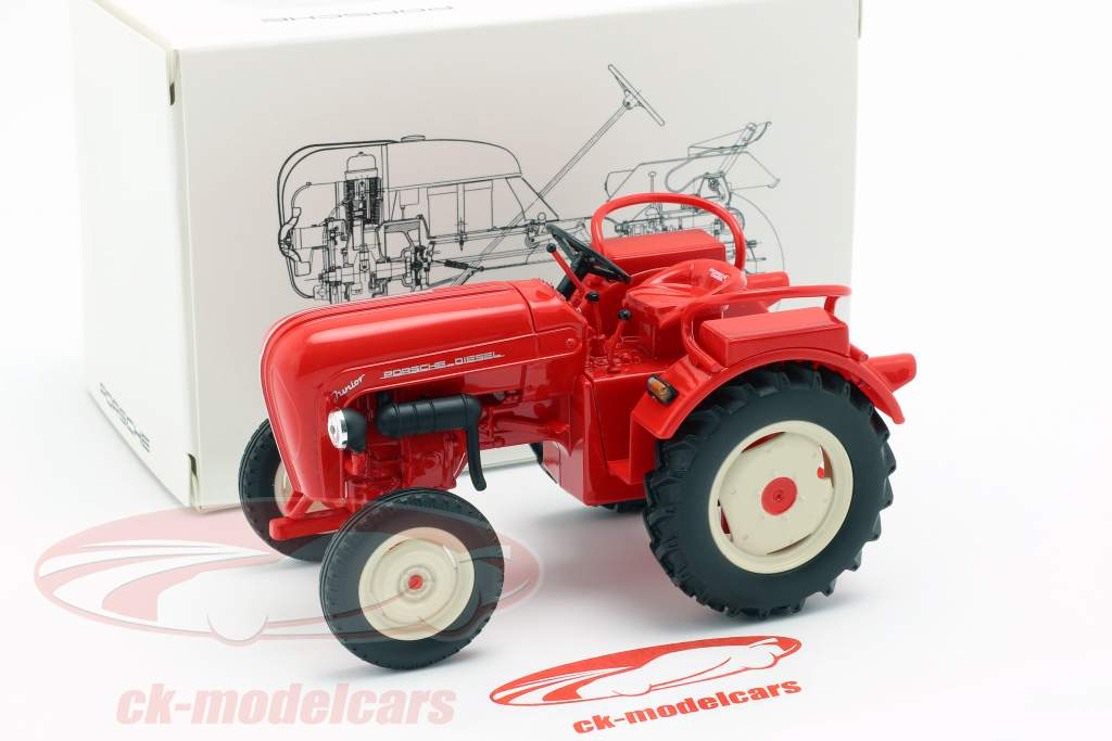 Porsche Junior tractor rood 1:24 Welly