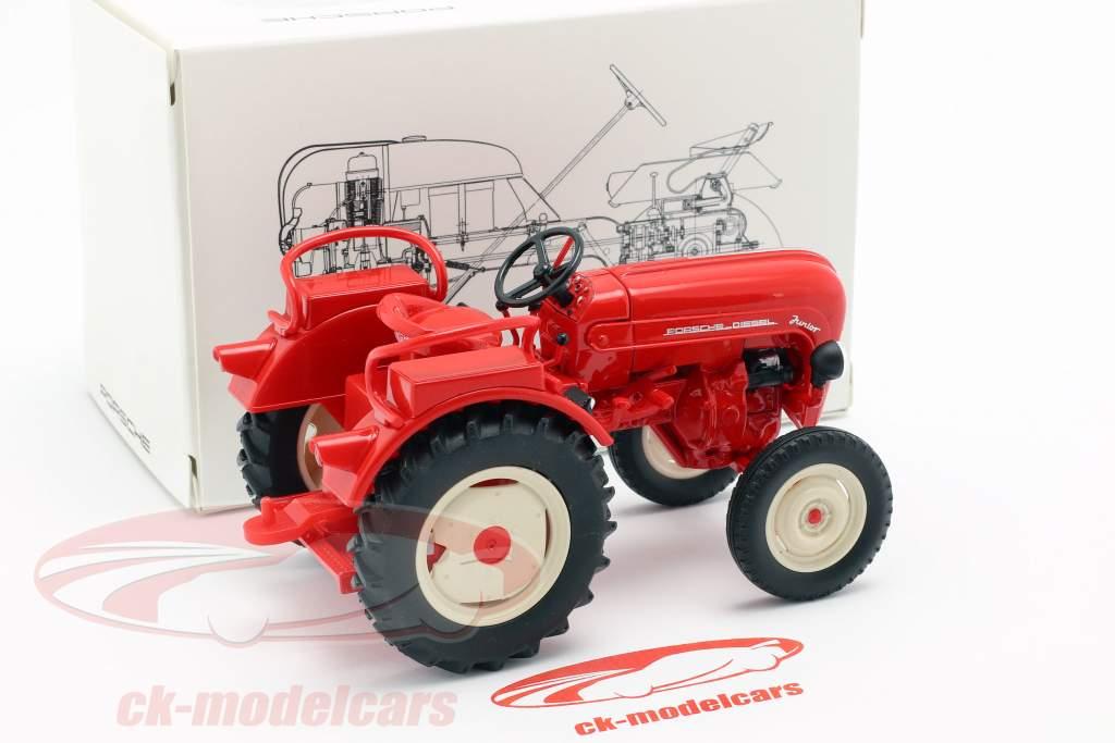 Porsche Junior traktor rød 1:24 Welly
