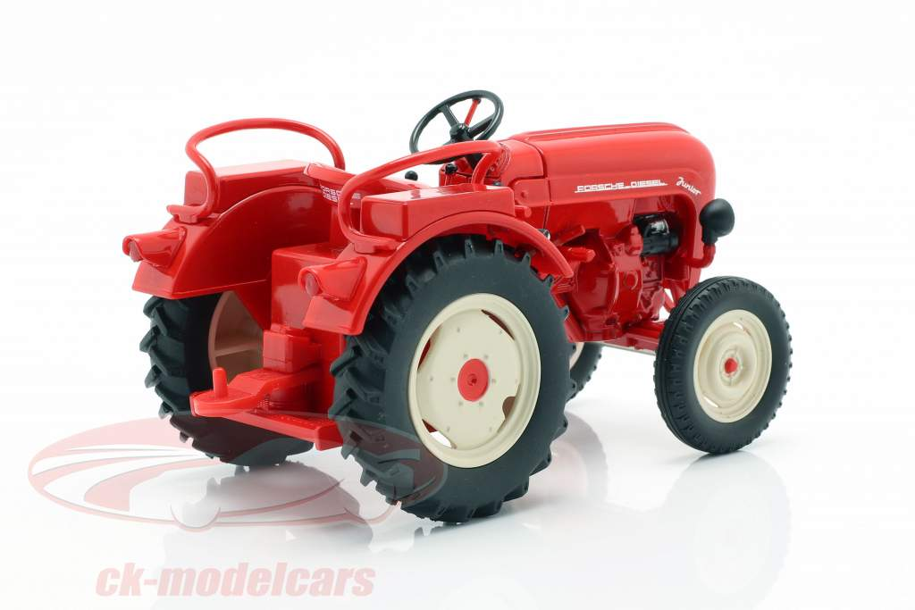 Porsche Junior tractor rojo 1:24 Welly