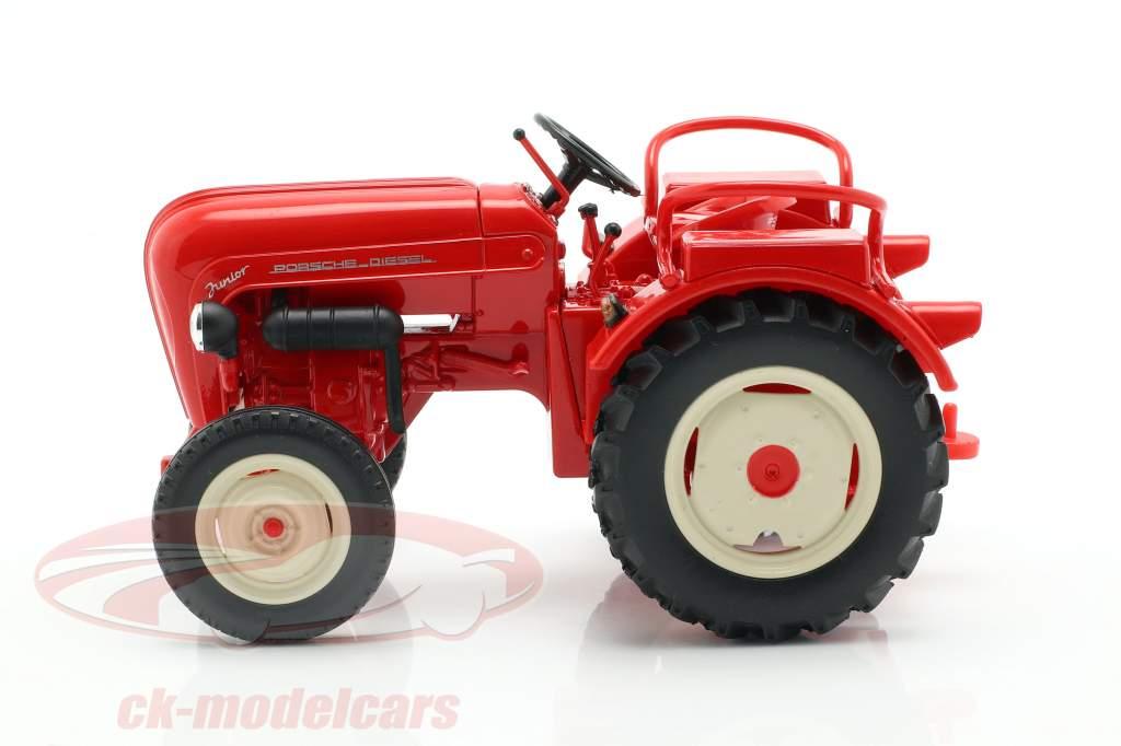 Porsche Junior trator vermelho 1:24 Welly