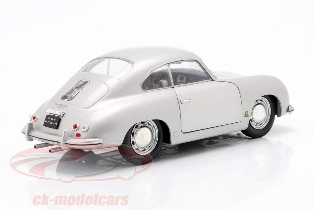 Porsche 356 PRE-A año de construcción 1953 plata 1:18 Solido