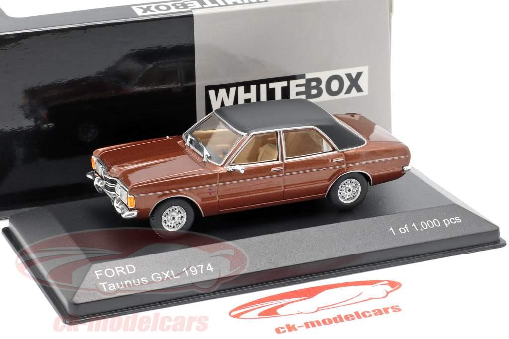 Ford Taunus GXL año de construcción 1974 marrón metálico / negro 1:43 WhiteBox