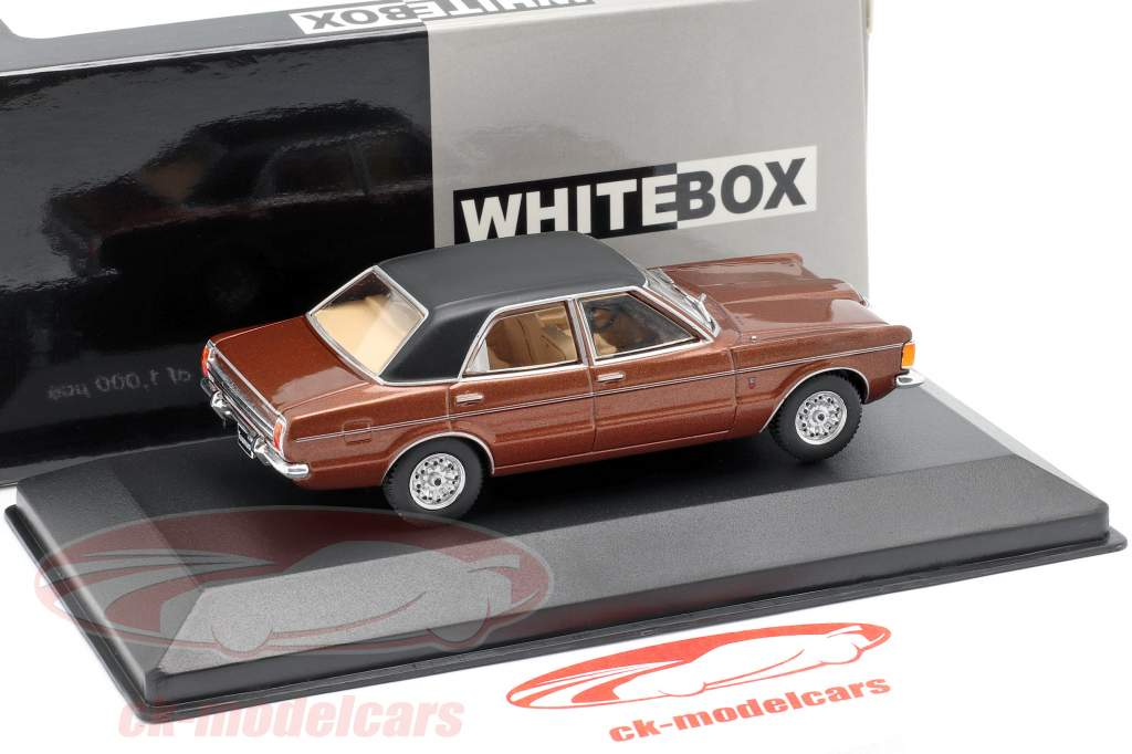 Ford Taunus GXL anno di costruzione 1974 marrone metallico / nero 1:43 WhiteBox