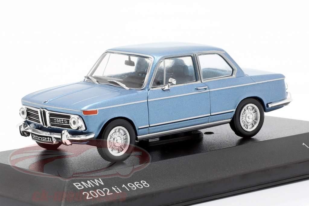 BMW 2002 ti year 1968 light blue metallic 1:43 WhiteBox