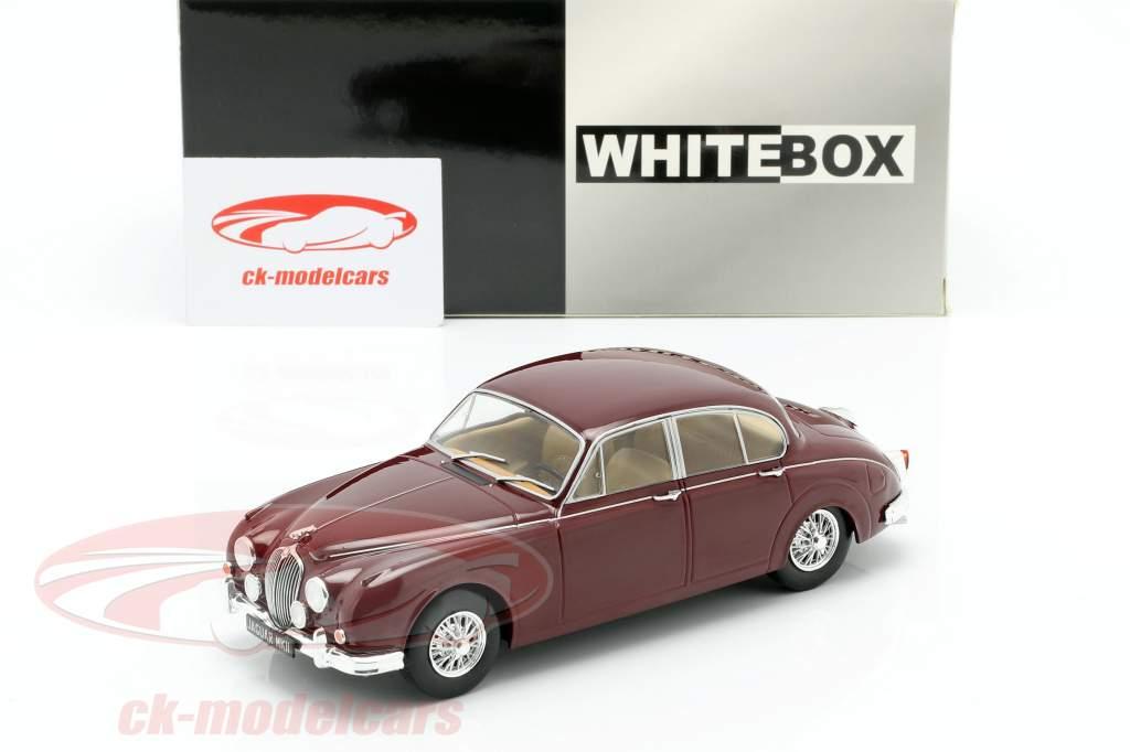 Jaguar MK II année de construction 1960 sombre rouge 1:24 WhiteBox