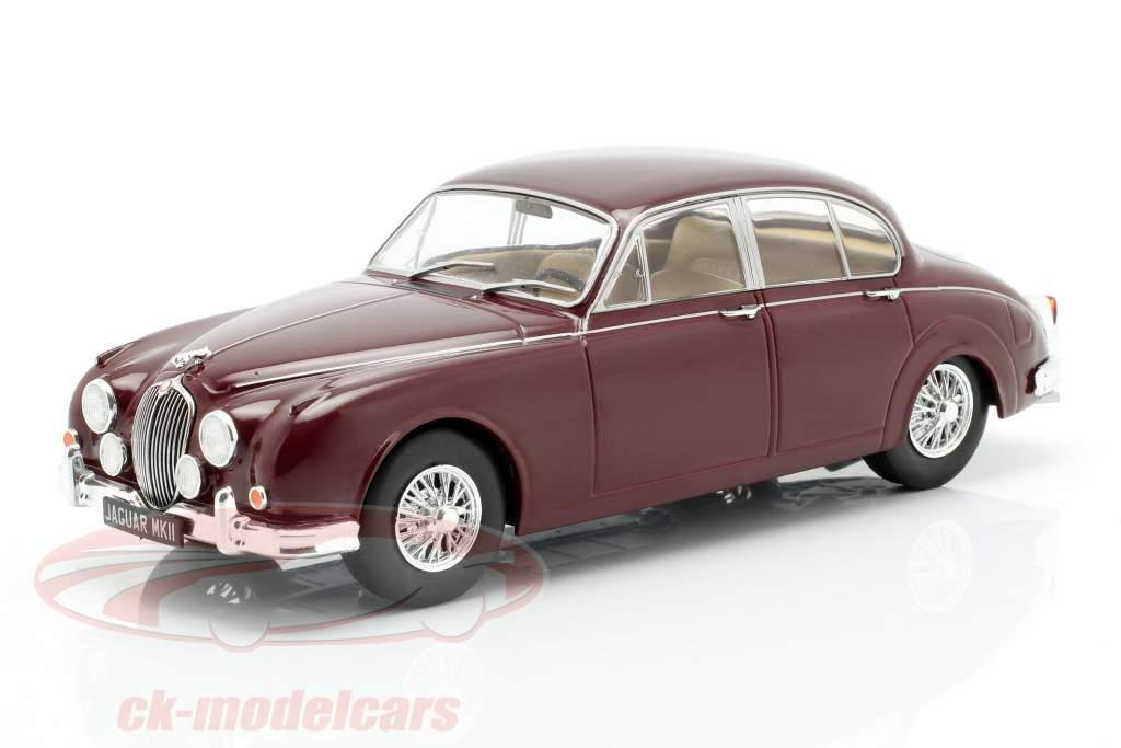 Jaguar MK II Bouwjaar 1960 donker rood 1:24 WhiteBox