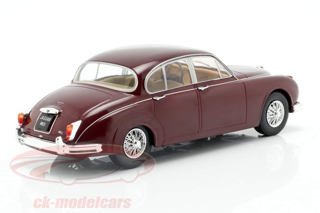 Jaguar MK II year 1960 dark red 1:24 WhiteBox