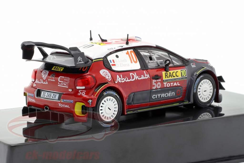 Citroen C3 WRC #10 Winner Rallye Catalunya 2018 Loeb, Elena 1:43 Ixo
