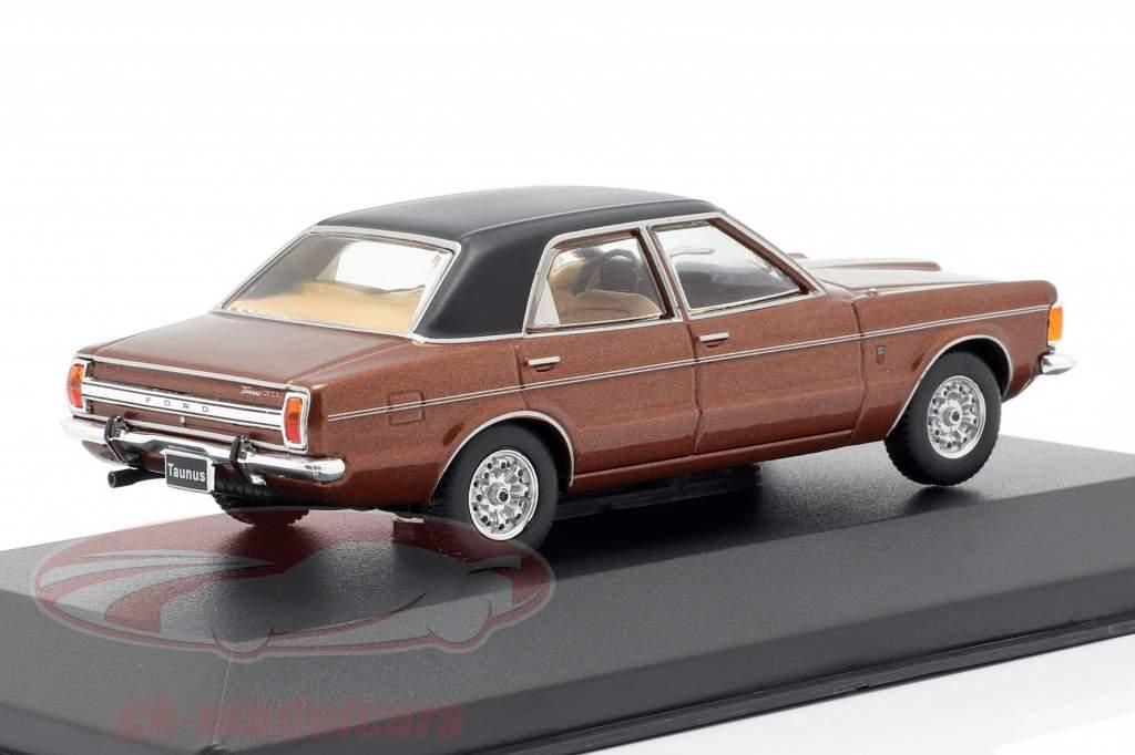 Ford Taunus GXL year 1974 brown metallic / black 1:43 WhiteBox