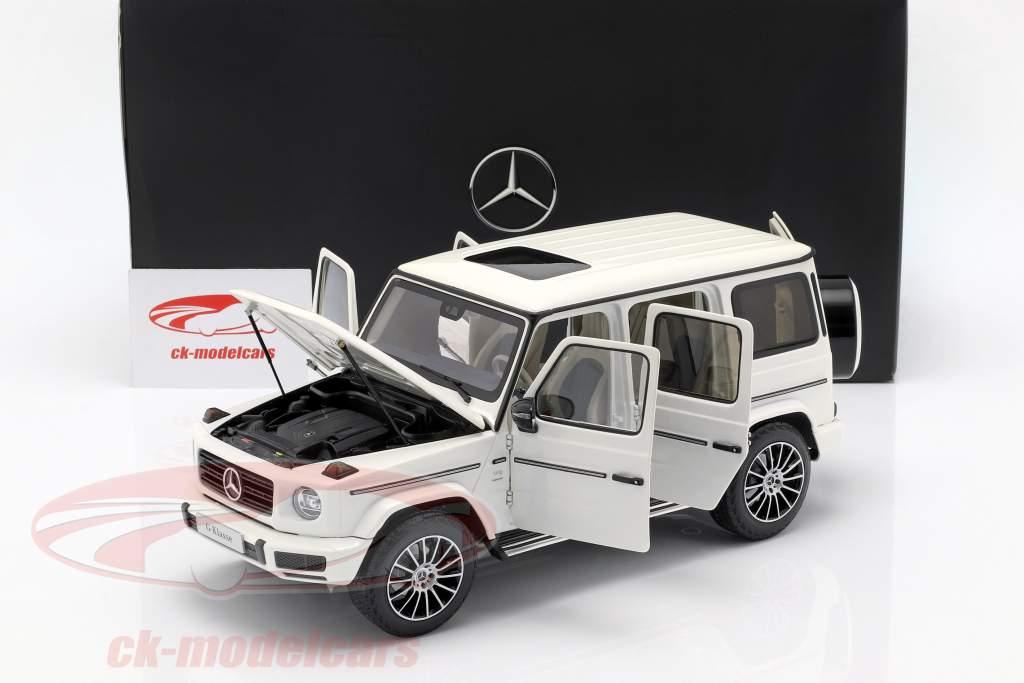 Mercedes-Benz G-classe W463 40 anos 2019 diamante branco brilhante 1:18 Minichamps