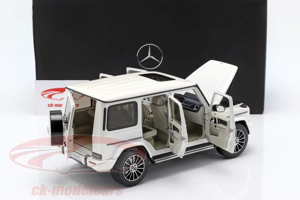 Mercedes-Benz G-klasse W463 40 år 2019 diamant hvid lyse 1:18 Minichamps