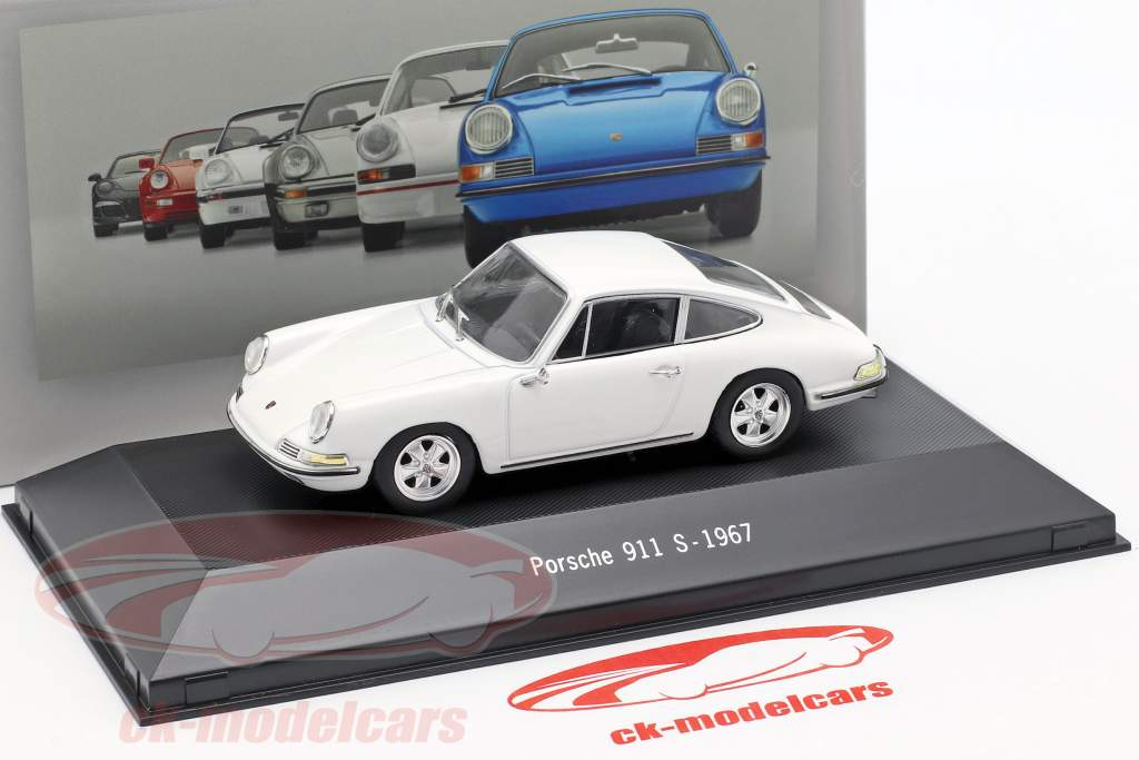 Porsche 911 S year 1967 white 1:43 Atlas
