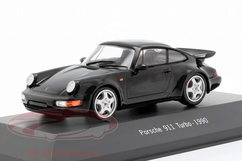 Porsche 911 (964) Turbo year 1990 black 1:43 Atlas