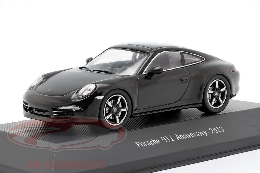 Porsche 911 (991) 50e anniversaire 2013 noir 1:43 Atlas