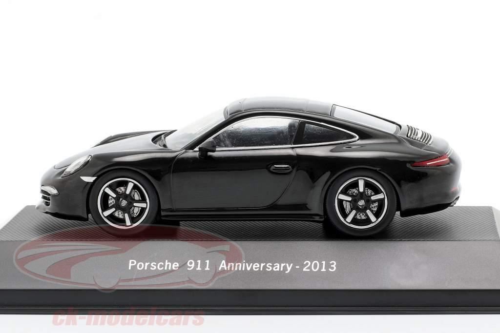 Porsche 911 (991) 50a aniversario 2013 negro 1:43 Atlas