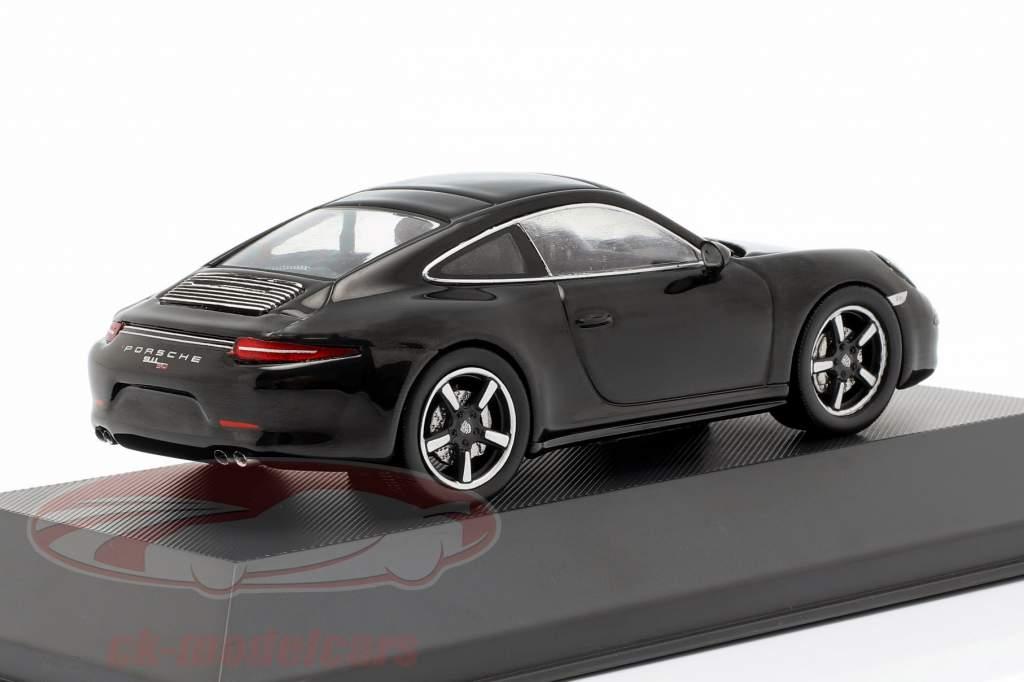 Porsche 911 (991) 50th jubilæum 2013 sort 1:43 Atlas