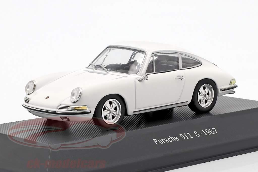Porsche 911 S año de construcción 1967 blanco 1:43 Atlas