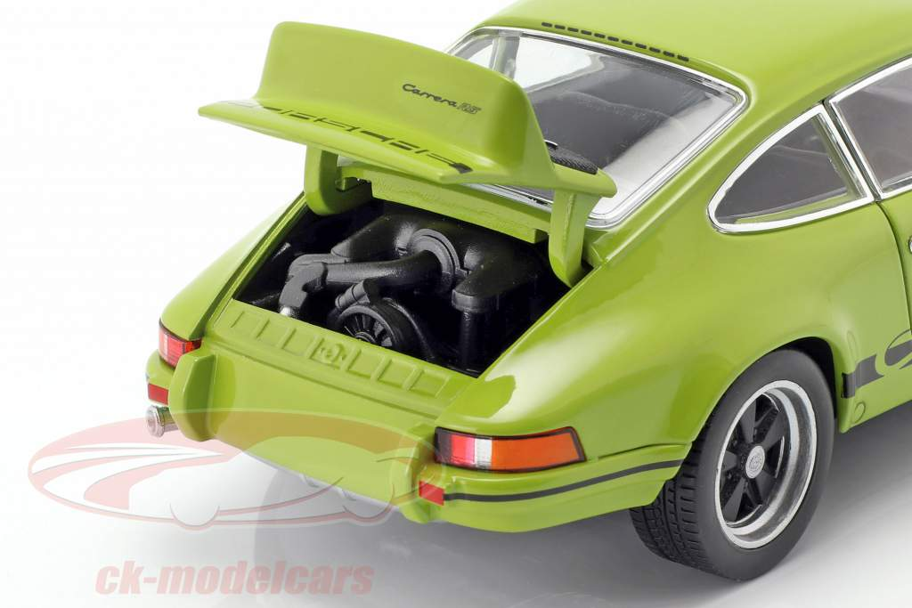 Porsche 911 Carrera RS Opførselsår 1973 limegrøn / sort 1:24 Welly
