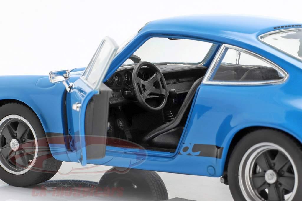 Porsche 911 Carrera RS anno di costruzione 1973 blu sotto 1:24 Welly