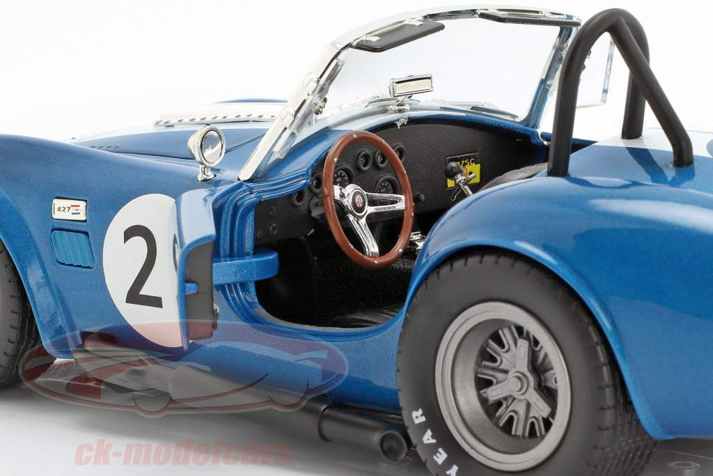 Shelby Cobra 427 Racing #21 azul / branco 1:18 CMR