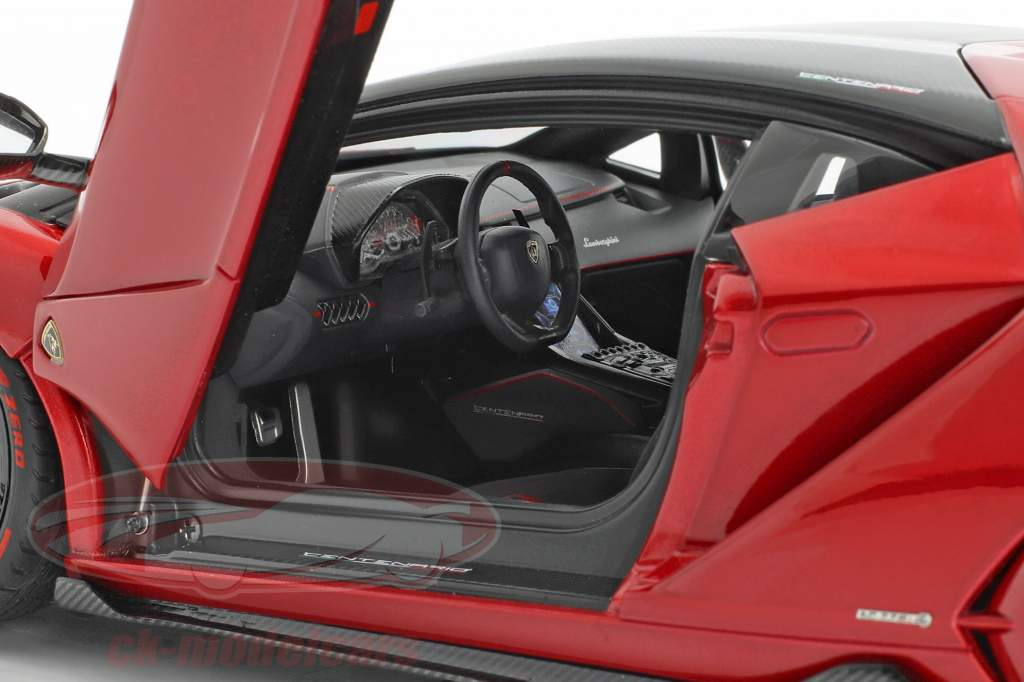 Lamborghini Centenario LP770-4 Bouwjaar 2017 rood metalen 1:18 AUTOart