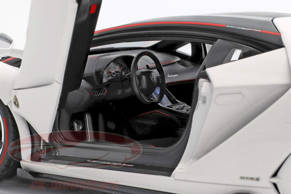 Lamborghini Centenario LP770-4 year 2017 solid white 1:18 AUTOart