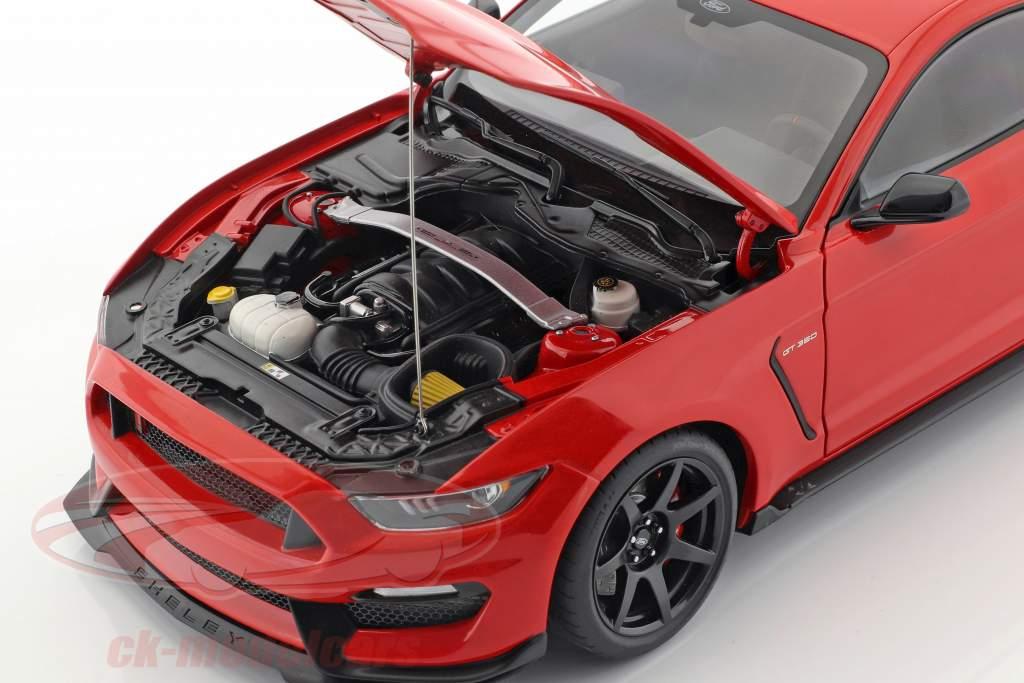 Ford Mustang Shelby GT350R Opførselsår 2017 løb rød 1:18 AUTOart