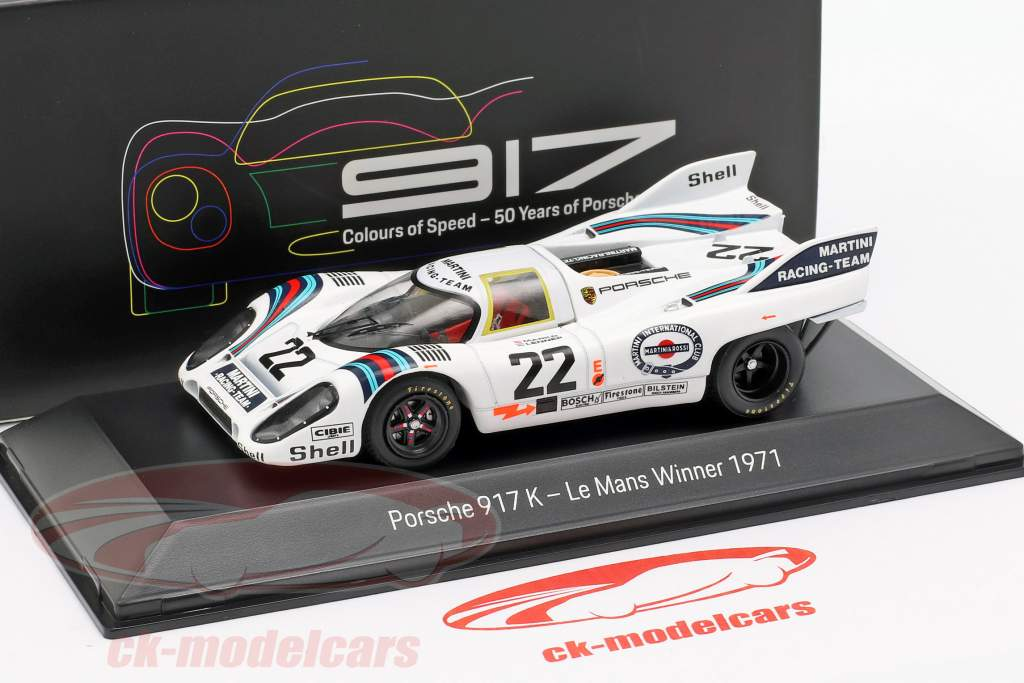 Porsche 917 K #22 winnaar 24h LeMans 1971 Marko, van Lennep 1:43 Spark