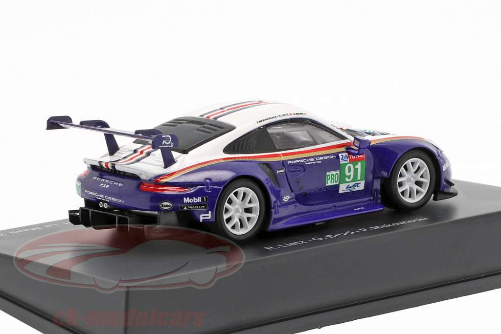 Porsche 911 (991) RSR #91 2º LMGTE Pro Class 24h LeMans 2018 1:64 Spark