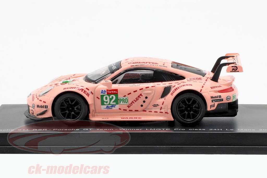 Porsche 911 (991) RSR #92 Winner LMGTE Pro Class 24h LeMans 2018 1:64 Spark