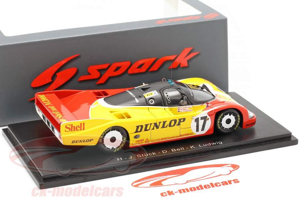 Porsche 962C #17 2 24h LeMans 1988 Stuck, Ludwig, Bell 1:43 Spark